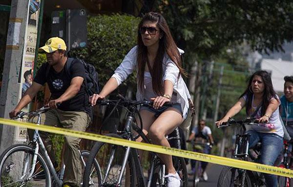 Ciclistas aseguran que la aplicación de multas no es práctica, pues no hay un padrón de bicicletas. FOTO: CUARTOSCURO/ARCHIVO
