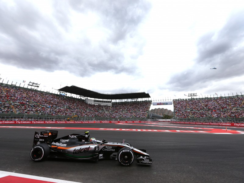 Sergio Perez (MEX) Sahara Force India F1 VJM08. Mexican Grand Prix, Saturday 31st October 2015. Mexico City, Mexico.