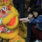 Festejo de la comunidad china el año nuevo chino