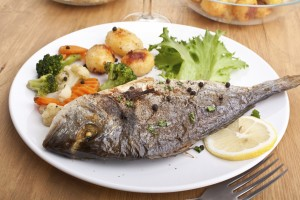 Sea Bream fish with vegetables