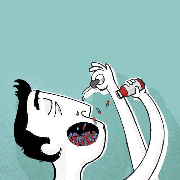 Ocho de cada 10 mexicanos recurre a la automedicación, principalmente porque creen que no es tan grave. Arte, Andree Ávalos
