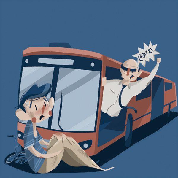 En los últimos 11 años, 38 personas murieron y 1301 resultaron heridas en accidentes viales relacionados con el Metrobús. Arte, Michel Laris