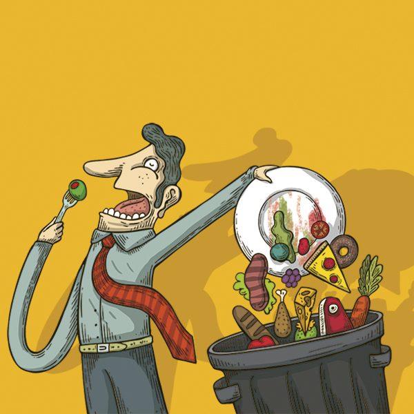 Una cuarta parte de los alimentos se desperdicia, pese a que en la CDMX es ilegal tirarlos. Arte, Alberto Montt