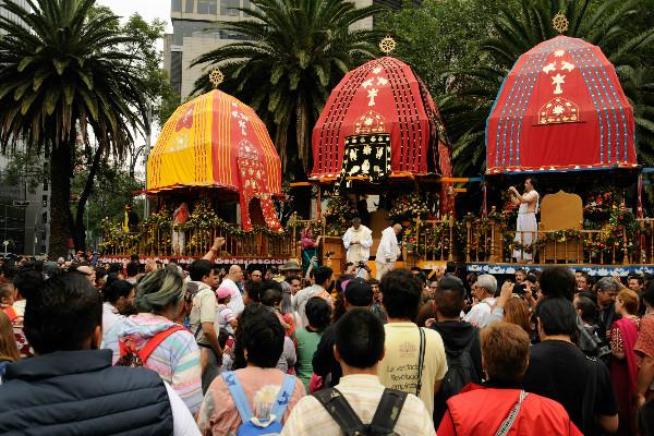 Se celebrará el Ratha Yatra en la Ciudad de México con un desfile.